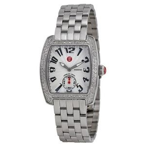Michele Women's Mini Urban Diamond Steel Watch